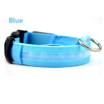 Lovoyager new pet products light up LED dog collar with mini led ring martingale dog collar