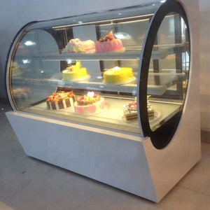hot sell glass front open cake display fridge refridgeration Curve Glass Bakery Display/Cake Showcase/Display Cooler