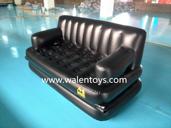 Inflatable 5 In 1 Sofa Bed With Three Seater 3 Person Seat On