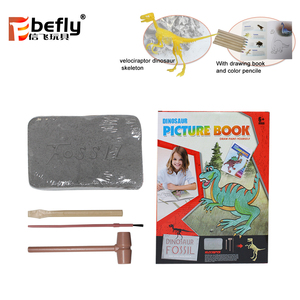 Painting book set dig it out dinosaur fossil toy for kids 2018