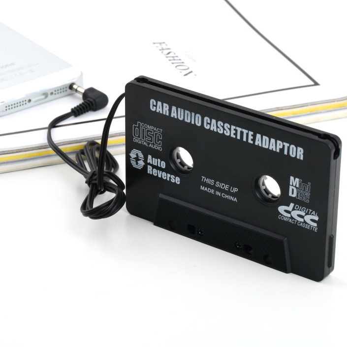 Car Nastro A Cassetta Adattatore Converter 3.5mm Jack Spina Adattatore A Cassetta per Radio MP3 iPhone 4 4 S iPod Touch Nano CD MD Nero