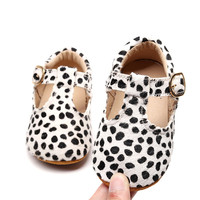 Fashion Genuine Leather Baby Moccasins Leopard Print Mary Jane Breathable Baby Shoes