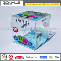 2014 Popular CMYK color odm custom plastic small clear transparent gift boxes for sale