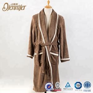 Luxuriously Soft Plush Coral Velvet Bathrobe Robe d9d87039d