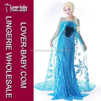 Vestido elsa frozen mujer
