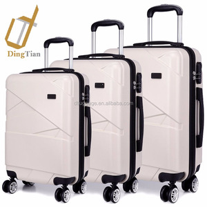 "White Suitcase Luggage Sets Travel Carry-on Case 20"" 24"" 28"" suitcases"