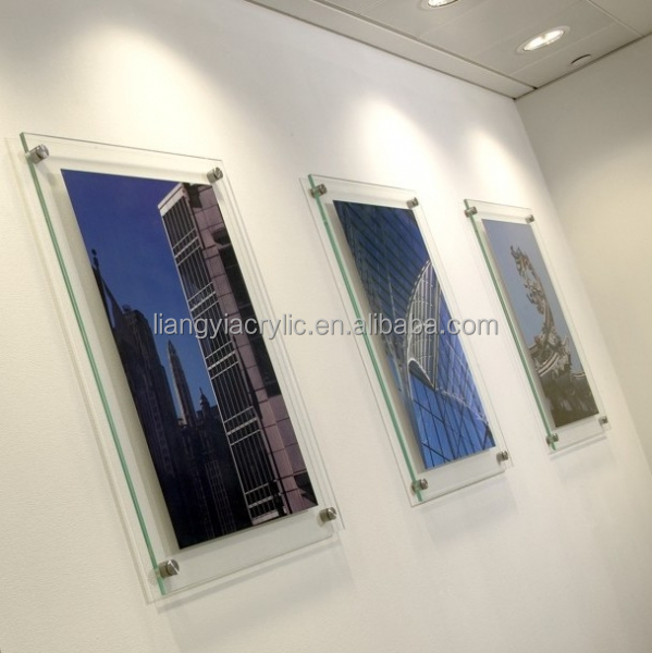 high quality popular clear acrylic sheet poster frame
