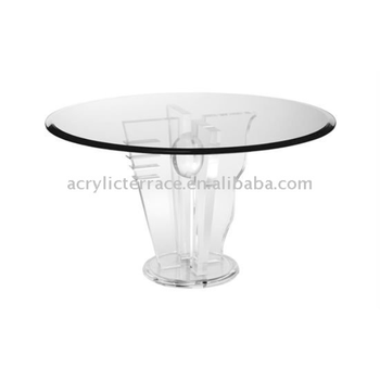 Special Clear Acrylic Dining Table Base