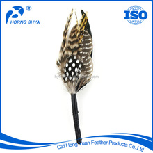 Manufacturer A-256 Guinea Feather Brooches Customized OEM Decorative Feather Brooches