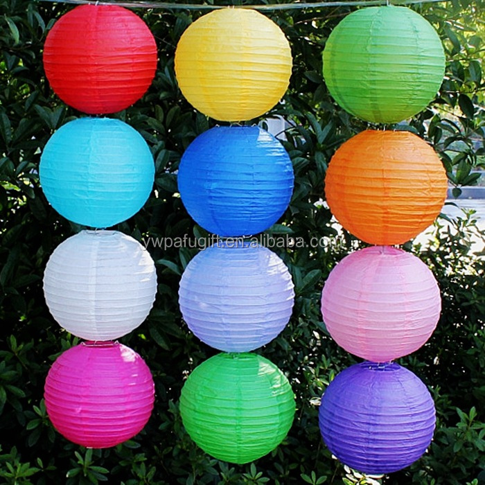wholesale hot chinese lantern round ball paper lantern