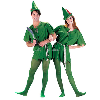 Peter Pan Robin Hood Storybook Adult Fancy Dress Party Unisex Costume