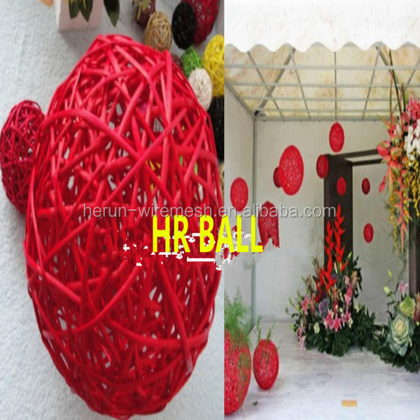 Christmas decoration balls/outdoor Christmas wire balls
