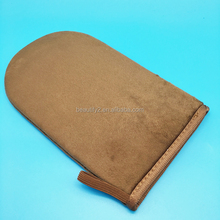 Self tanner double sided tanning mitt for spray tan