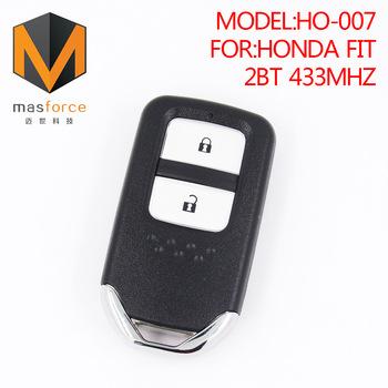 Remote Control Auto Smart Card Car Key For Honda Fit 2 Button 433mhz