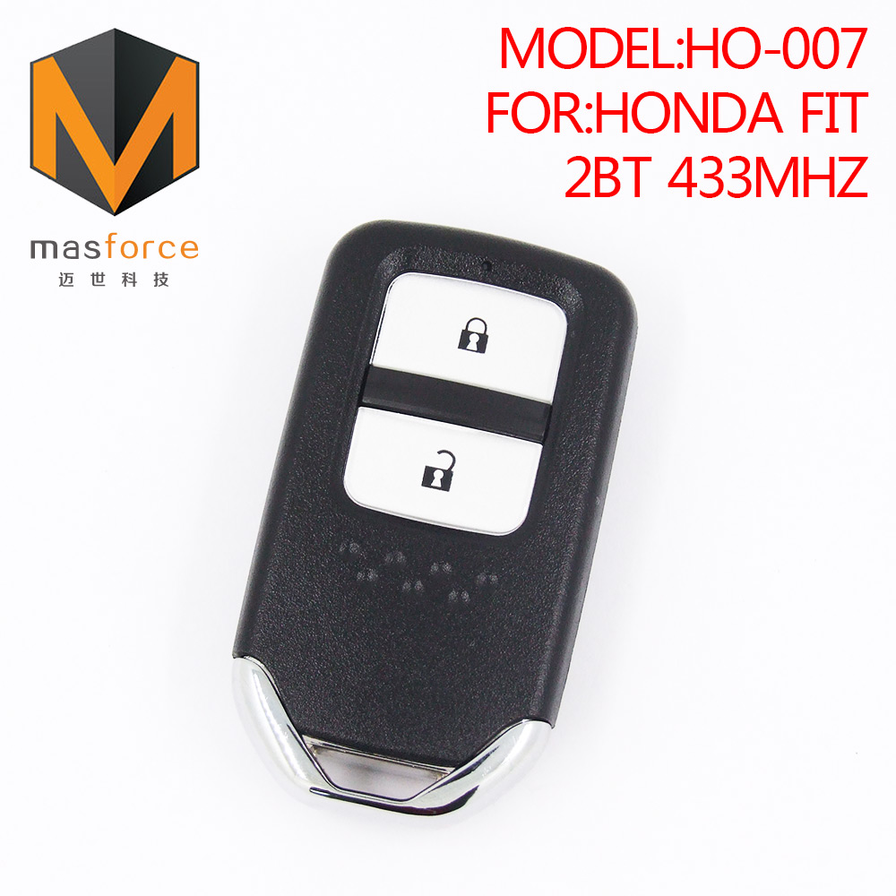 Remote control smart card car key for Honda Fit 2 button 433mhz ID47 transponder chip