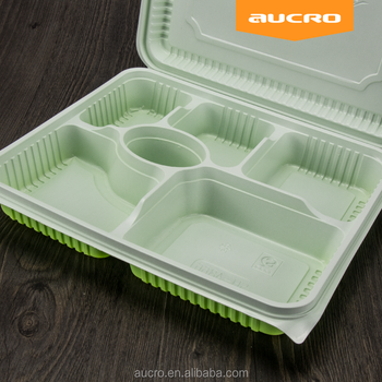 Takeaway Plastic Disposable Lunch Box With 6 Compartments /6 compartment lunch box & Takeaway Plastic Disposable Lunch Box With 6 Compartments /6 ...