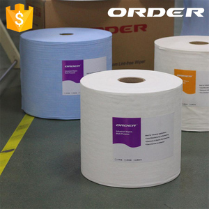 Nonwoven Perforated Roll of white Wipes cellulose/Polypropylene microfiber wipe