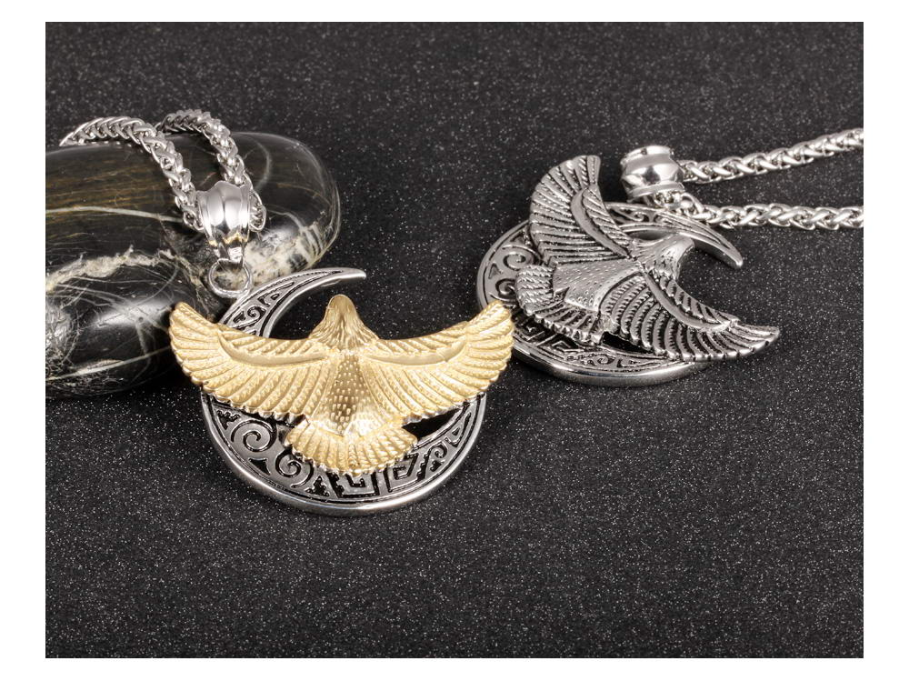 Wholesale Punk Style Mens Jewelry Stainless Steel Silver Gold Eagle Pendant