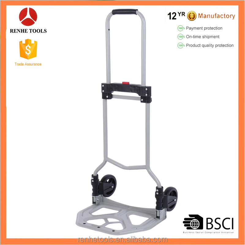 RH-60S 70kgs load capacity two wheels outdoor steel foldable hand trolley hand truck folding luggage cart