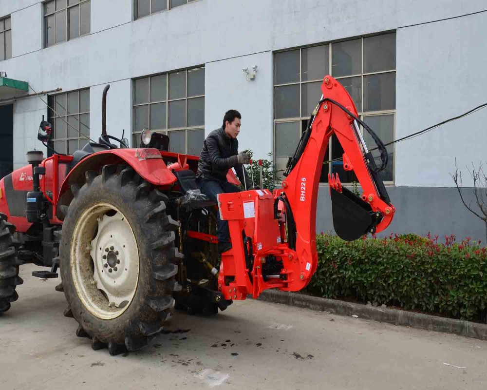 Small Garden Tractor Loader Backhoe Tractor Mounted