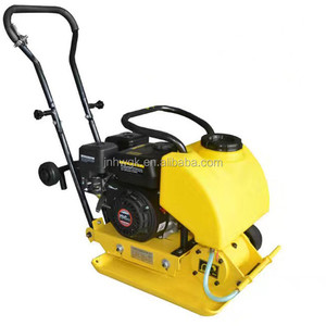 gasoline electric earth soil hand held vibratory plate compactor