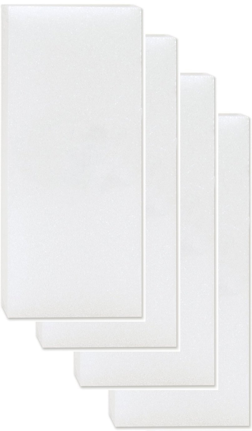 Styrofoam White Carving Blocks 4 Pack For sculpting, Sheet Crafts Pack for Modeling Floral, model-making, crafting art supplies (3 x 3 x 3)