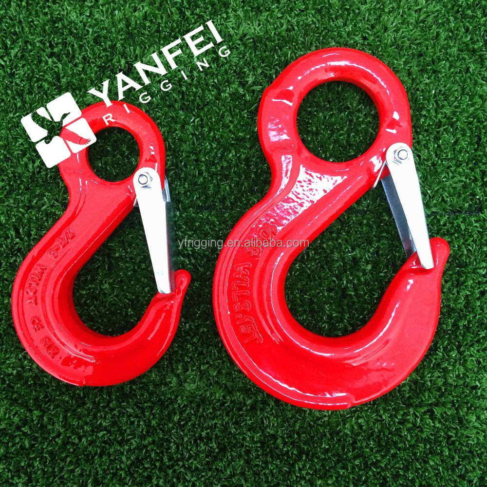Factory price Forged steel pipe lifting hook with eye