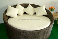 popular rattan sofa inflatable outdoor furniture round sleeper sofa bed