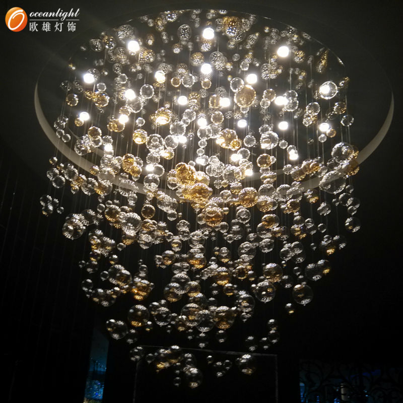 Crystal hanging candle chandeliermodern glass ball pendant lamp crystal hanging candle chandeliermodern glass ball pendant lamp om802 mozeypictures Images