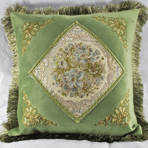 Luxury fashion deerskin velvet cushion pillow mahogany sofa cushion car cushion household cushion Large core