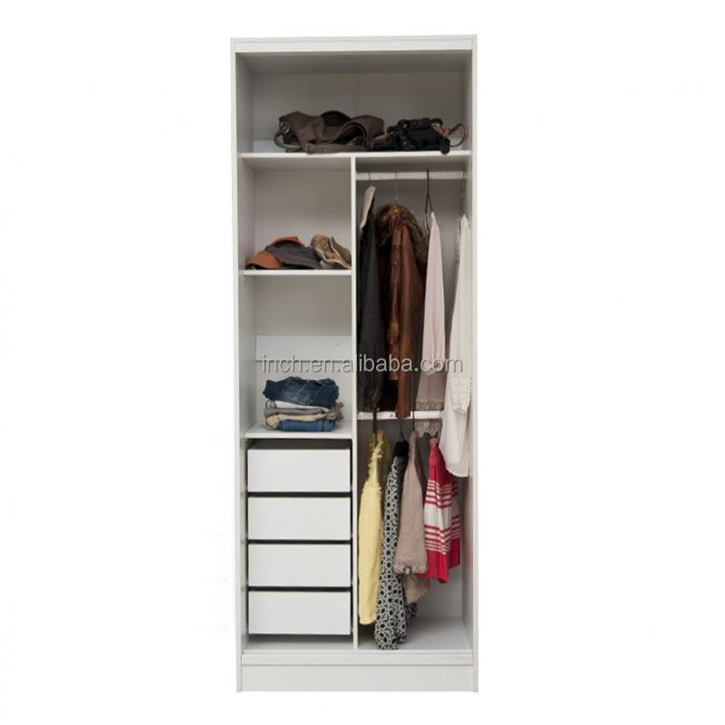 White Ghana design bedroom half height wardrobe with lock