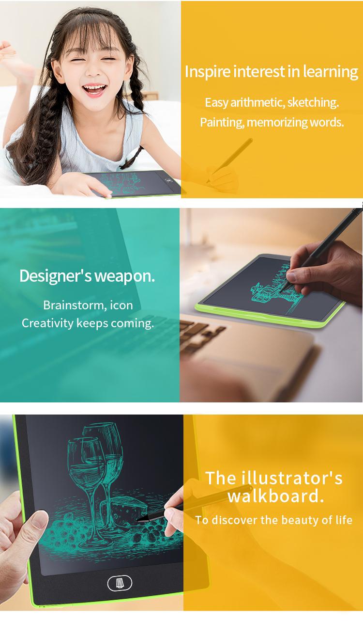 8.5/10/12 inch LCD Schrijven Tablet kids Schrijfbord school Grafische draagbare Tekening Tablet