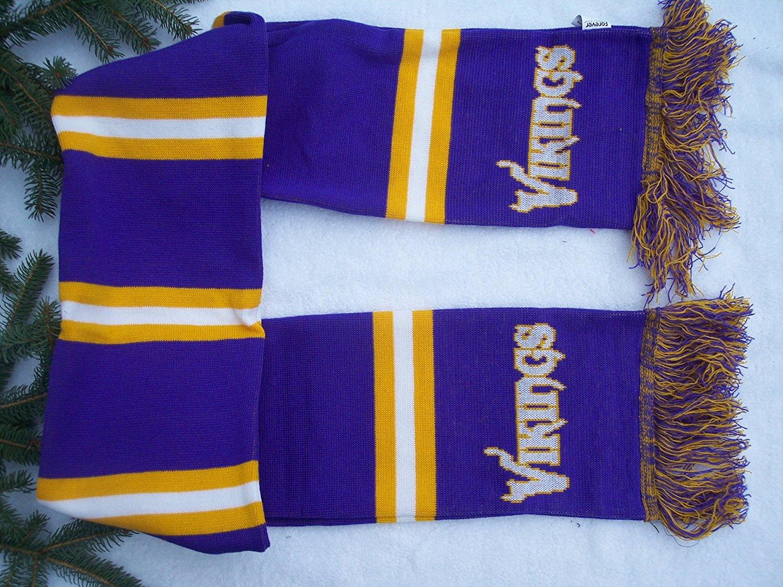 "Minnesota Vikings 65"" NFL Stadium two sided Team logo Jersey fashion Scarf"