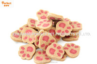 Natural paw shaped biscuits dog food treats calcium bone for dog
