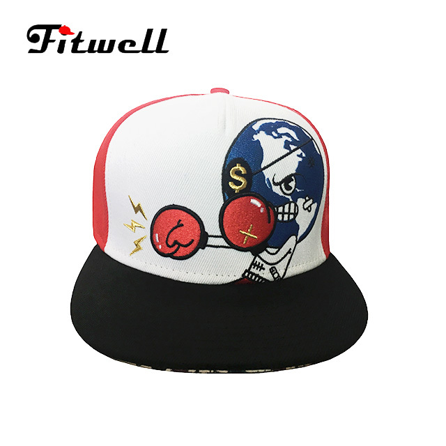 b84c17009fc41 Top sale high quality red custom embroidery 5 panel printed flat snapback caps  hats