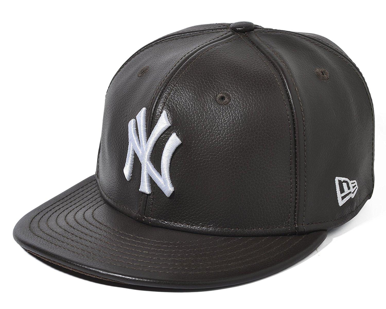 46880553c2e Get Quotations · New Era New York Yankees MLB Leather White Logo 59FIFTY Cap
