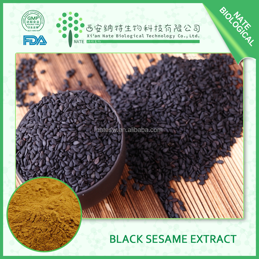 Golden Supplier 100% Pure Natural black sesame powder and black sesame seed extract 1%