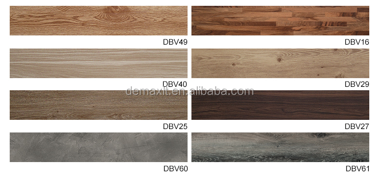 Residential  Wooden Adhesive 6x36 Vinyl Tile Flooring PVC Tiles For Home