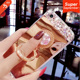 Luxury Mirror Phone Case Soft TPU Crystal Diamond Ring Cover For IPhone 6 7Plus 8p Holder Accessories For Samsung S8/S7edge capa