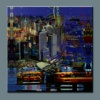 BC13-8246 Abstract Cityscape Oil Paintings Colorful New York for Decoration