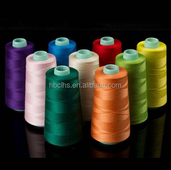 Quality sewing polyester yarn thread for high speed machine plus silicone oil 40/2 5000 yards