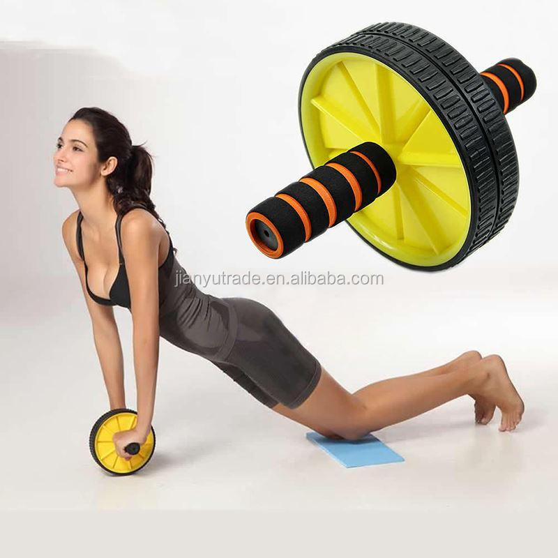 Abdominal Exercise Roller Body Fitness Strength Dual Wheels Gym Training
