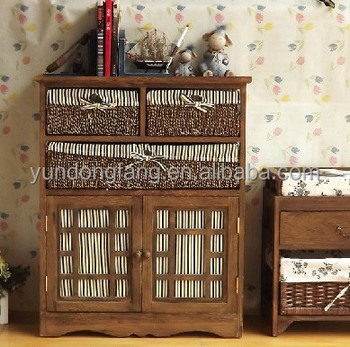 Country Style Wooden Storage Cabinet