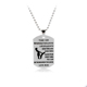 Dog Tag Necklace To My Son Be The Man Love Dad/Mum Son Pendant Necklace