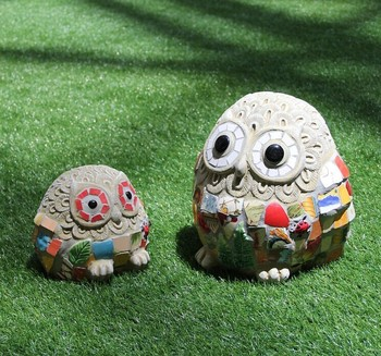 Ceramic Mosaic Animals Garden Decoration, Lovely Owl Shape Outdoor Ornaments  (BF01 P1024)