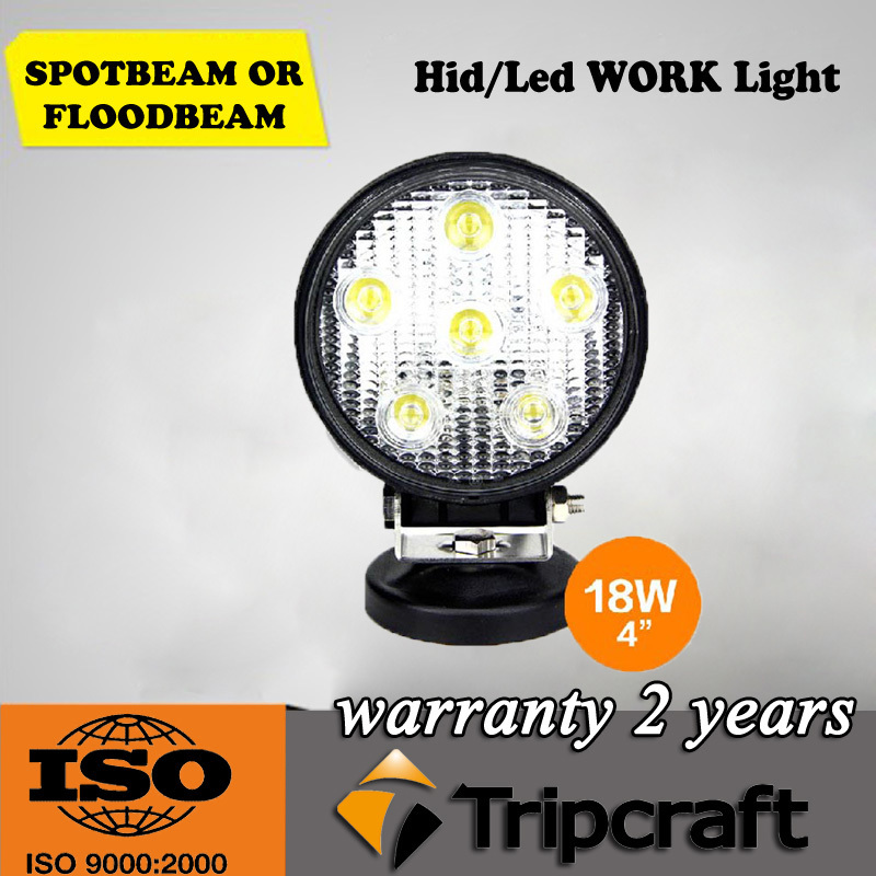 18W led work light 12v 24v ip67 <strong>auto</strong> ,ATVs led driving light for 4x4 car accessories
