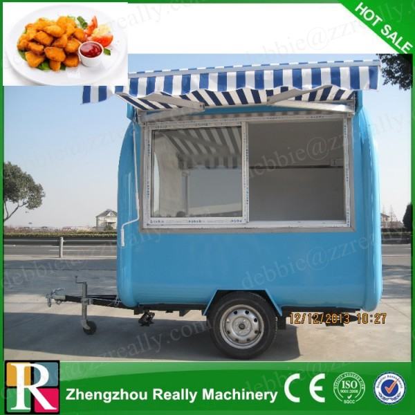 CE certificated safe food showcase display counters, out door fast food kiosk