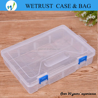 Plastic Storage Box Bag Case Detachable Compartments Clear Plastic Divided Storage Box for Screws