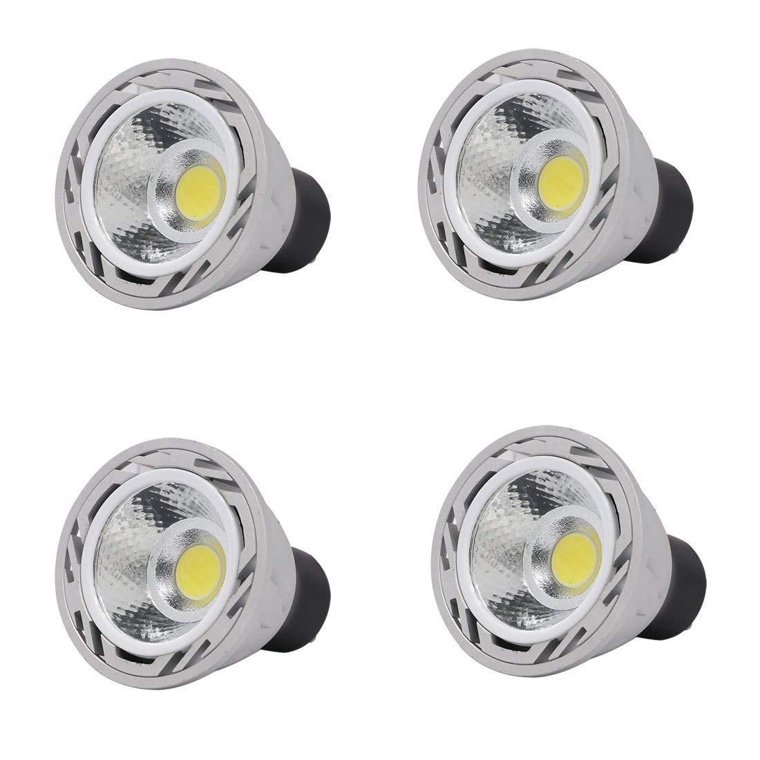 Ulight GU10 led light bulbs 5W 120V 550lm CRI 85, 50W halogen bulb equivalent, For track lighting or recessed light-pack of 4 (Daylight White 5500K)