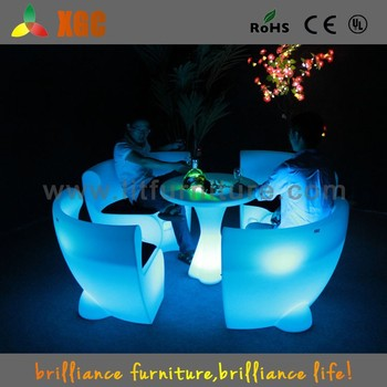 New Arrived Light Up Tables,Led Table And Chair Set,Outdoor Led ...